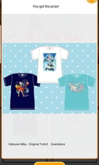 (Free gift) Hatsune Miku T-shirt Set (All 3 designs)