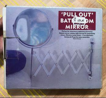 Bathroom 'Pull Out' Mirror