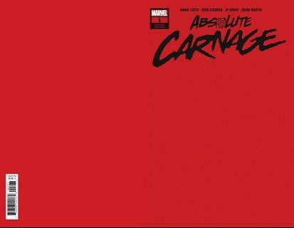 ABSOLUTE CARNAGE #1 1:200 Red Variant Comic