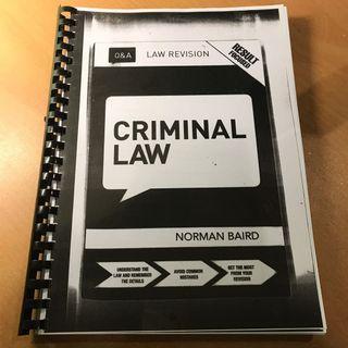 Criminal Law Q&A Norman Baird