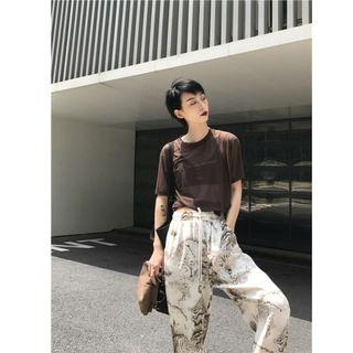 現貨+預購 VM 春夏新款 網紗透視字母印花短袖T恤 3色