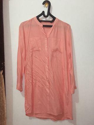 Novel Mice Peach Long Shirt