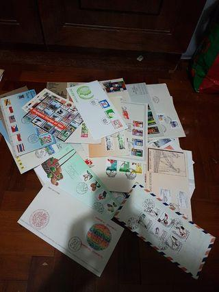 First Day Covers 117 pcs singapore