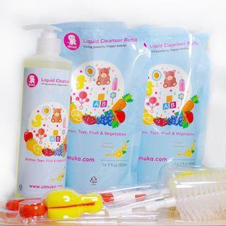 Ulmuka 奶瓶蔬菜清潔劑及奶瓶刷套裝