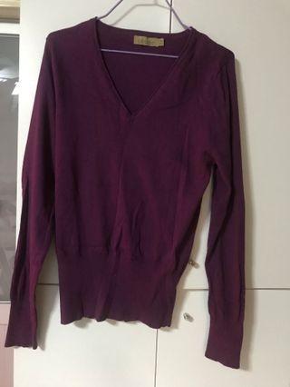 Sweater 女裝毛衣 (紫色) M碼