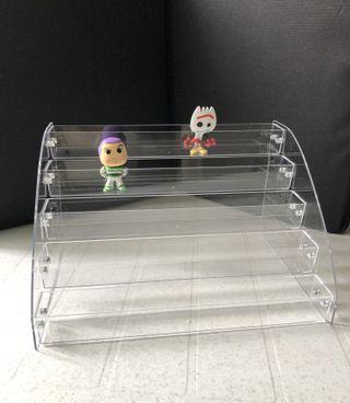 Brand New 5 Tiers Acrylic Display Case for figurines shopkins lol surprise funko mystery mini vinyl soccer pint size heroes