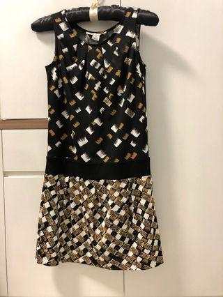 🚚 DVF printed drop waist dress