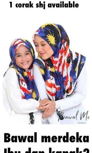 Tudung cotton Merdeka