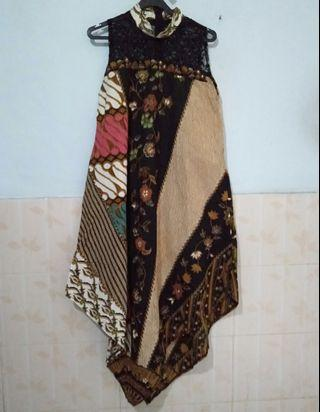 Dress Batik dress brokat hitam