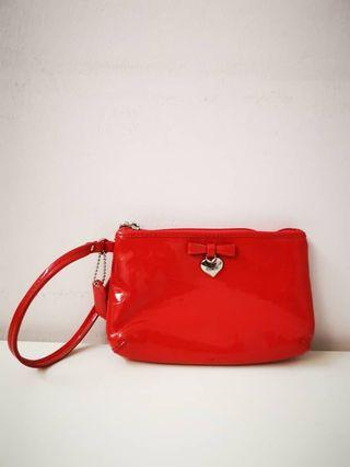 🚚 Coach Wristlet Clutch red