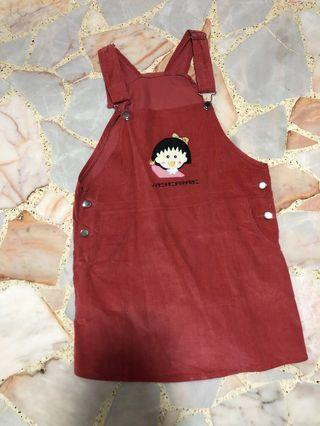 harajuku red pinafore dress