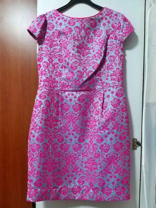 Pink & Blue Dress