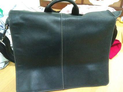 🚚 Coach 70104 Mens Transatlantic Leather Bag Mahogany 黑