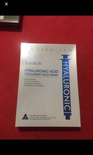 澳洲EAORON水光針補水面膜(白色) 5片
