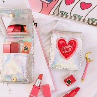 🚚 刺繡愛心口紅收納包