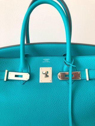 Hermes Birkin 30 Blue Paon PHW