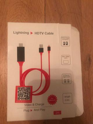 Lightning to HDTV cable 2 M