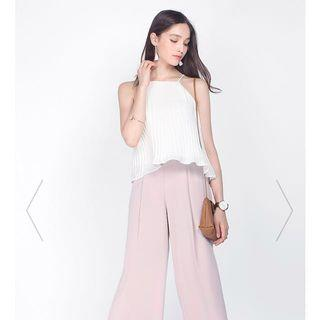 fayth meyer wide legged pants in blush pink