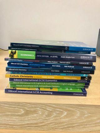 Edexcel IGCSE GCE/IAL/A Level Textbooks, Revision Guide(Accounting, Biology, Chemistry, Economics, English, Mathematics, Physics, Religious Studies)