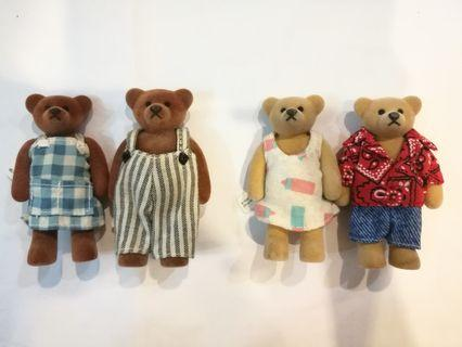 2pairs-Miniature Costume Bear (1999 McDonald's)