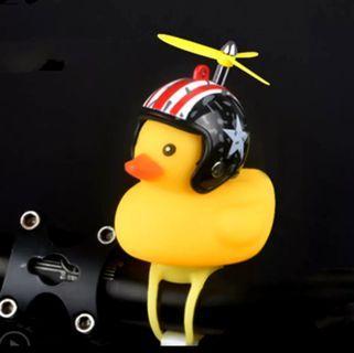 ***In-Stock = New Cartoon Yellow Little Duck Shape Bicycle Bell Shining Mountain Bike Head Light