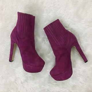 Tony Bianco Violet Boots with High Heel