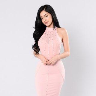 FashionNova Secret Identity Dress - Mauve