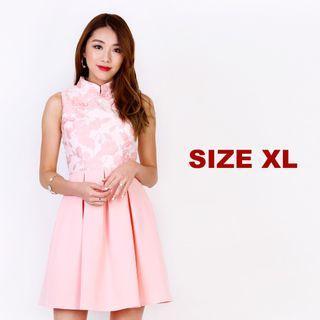 MGP Label Belle Vanity Cheongsam in Sweet Pink