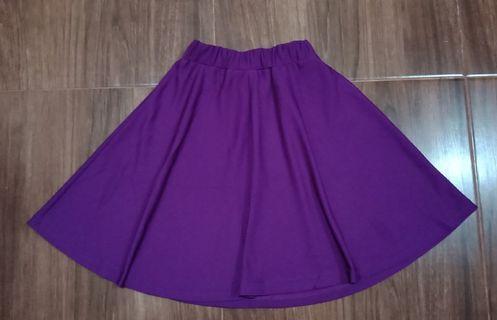 Flare Skirt ungu tua