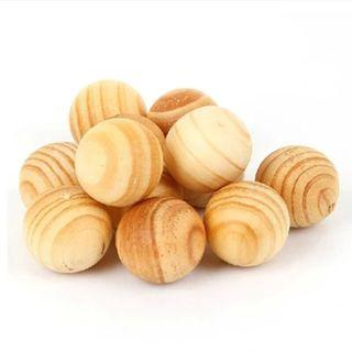 [Ready Stock] 5pcs Aroma Natural Wooden Camphor Balls Mothball Insect Repellent Anti-mildew