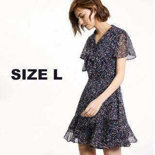 Saturday Club Floral Printed Fit-flare Dress With Front Bow