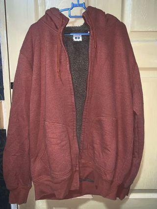 Uniqlo Brown Winter Jacket XL (Fluffy inside)