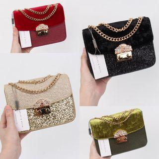 HOT Tas Selempang Charles & Keith Embellished Buckle Crossbody Bag Impor Code 6013