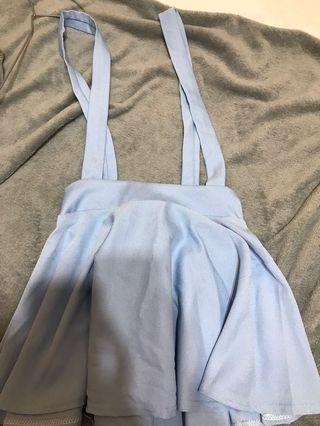 🚚 水藍吊帶裙