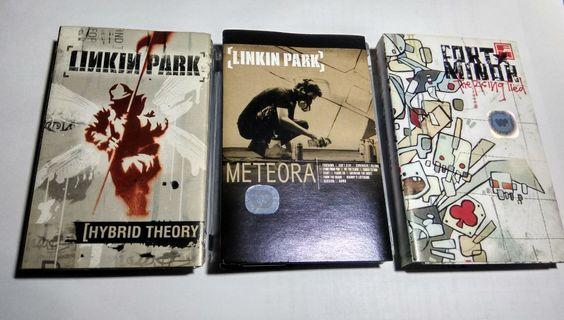 3 Kaset Pita Original - Linkin Park : Hybrid Theory, Meteora + Fort Minor : The Rising Tied