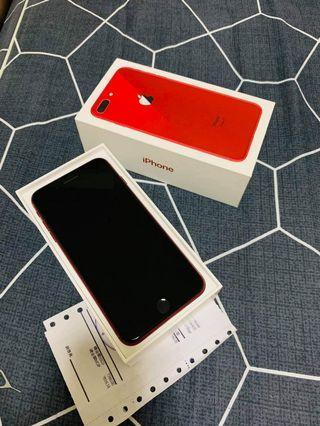 iPhone8puls火红色全套256GB99%新可交换