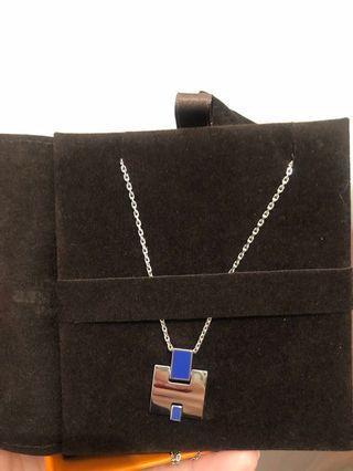 Hermès Eileen Necklace 藍銀頸鍊