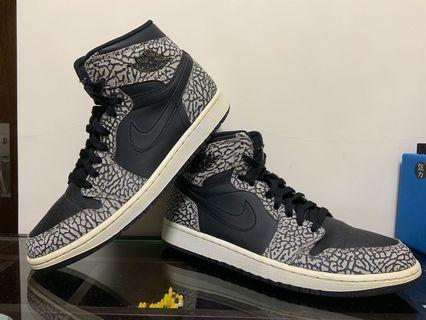 Jordan 1 黑色裂紋 black us10