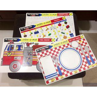 Super Deal! MELISSA & DOUG 'The Straight Edge' Double-Sided Activity Placemat (Set of 4)