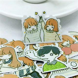 [ PO ] Cute Anime Couple Stickers