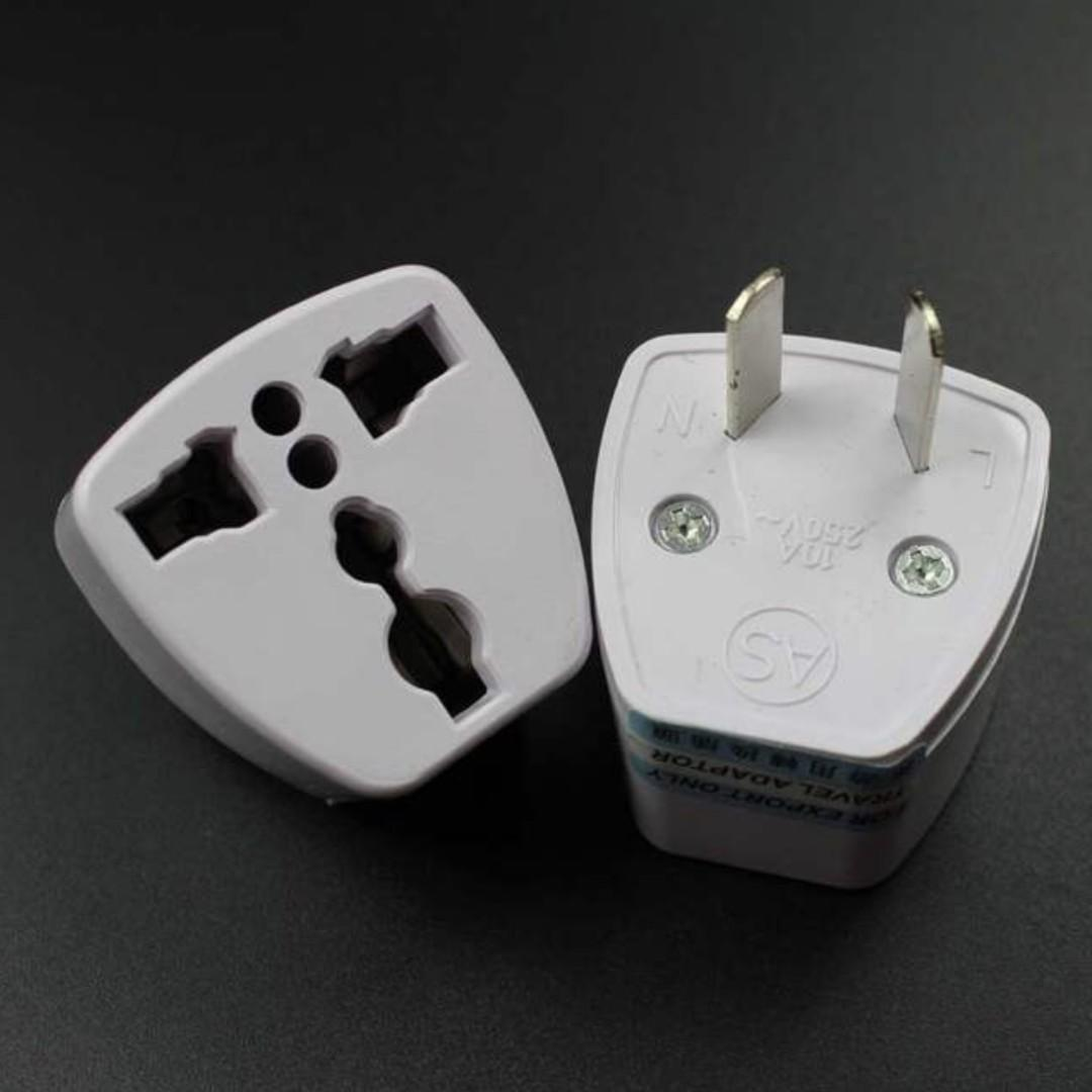 GREAT DEAL!! 2 Pin Universal Travel Adapter US/UK/EU to NZ/AU New Zealand Australia