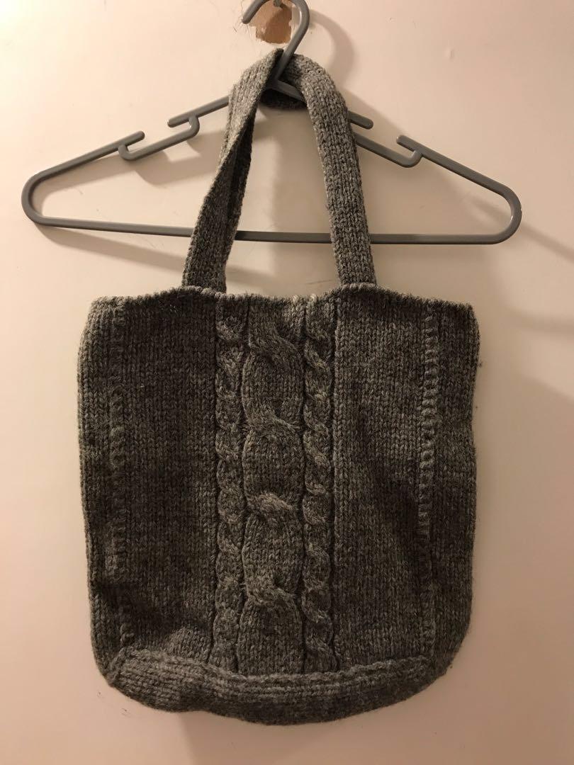 實用袋 grey 羊毛冷 tote bag wool 100%
