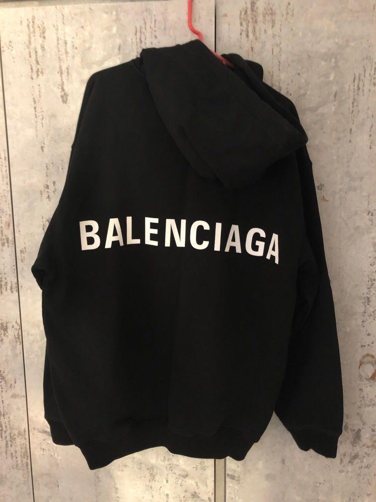 Balenciaga Black Hoodie, Men's Fashion