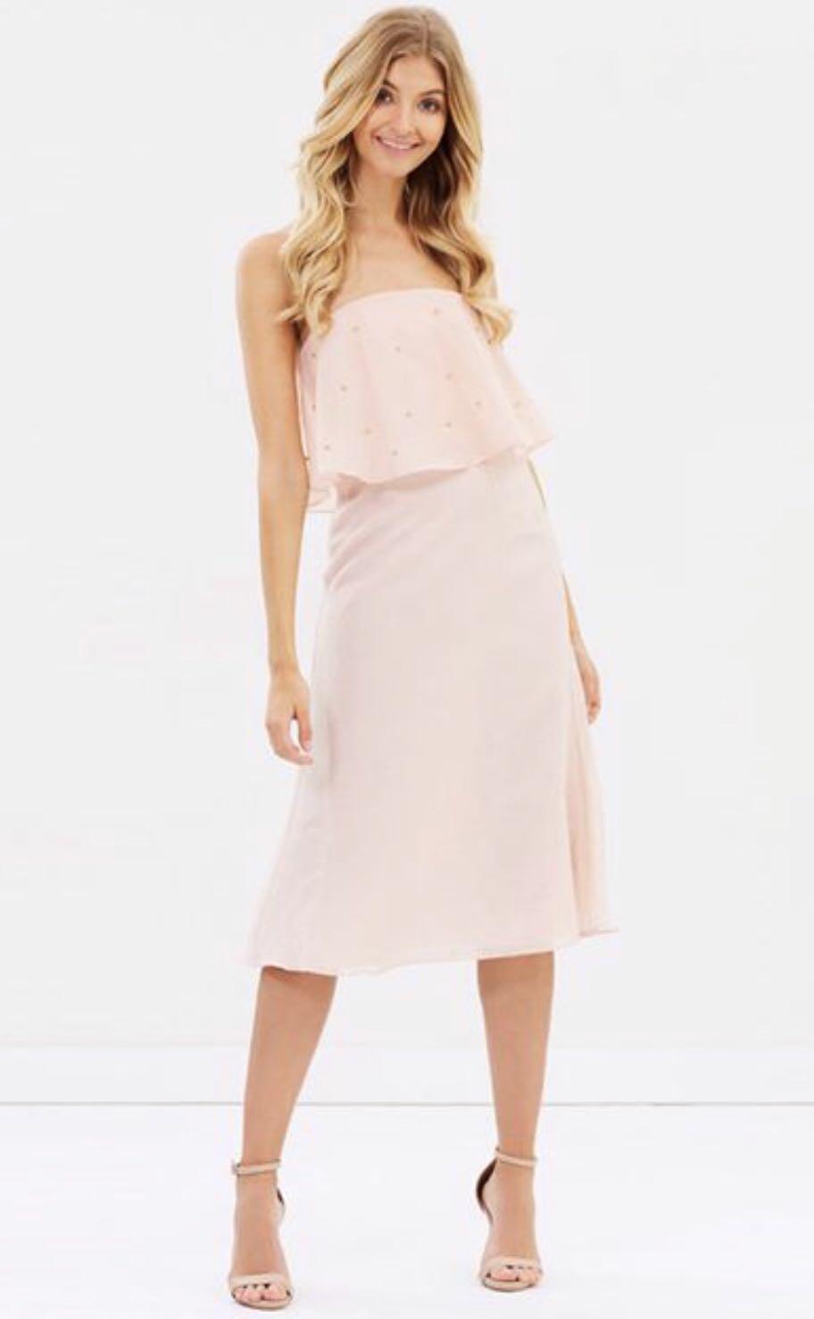Brand New RRP $199 Keepsake Dress Blush SIZE SMALL