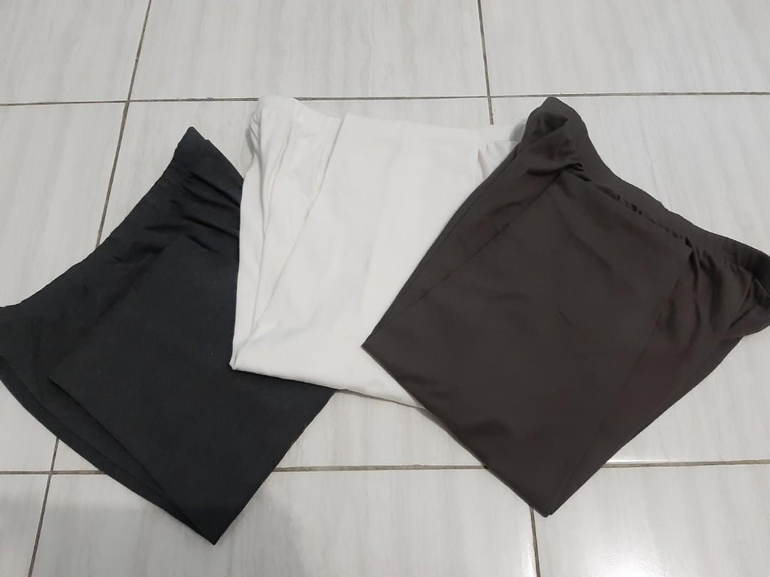 Celana Legging (Dark Grey, Brown, White)