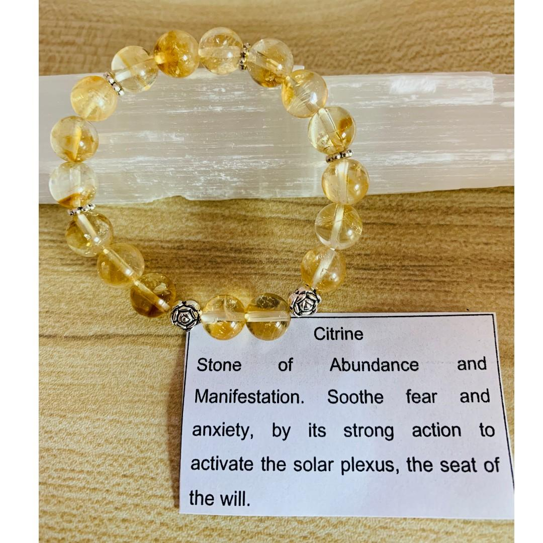 Citrine 8mm crystal bracelet