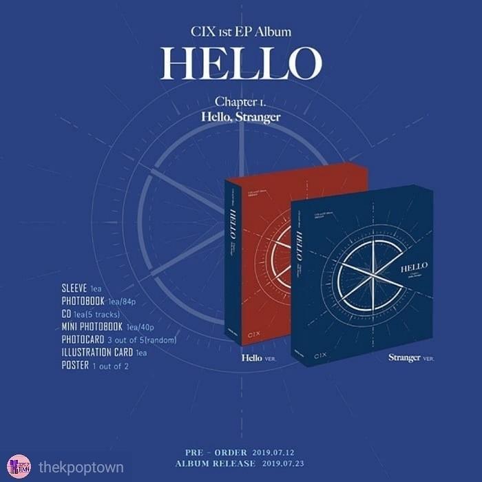 CIX 1st EP Album - HELLO CHAPTER 1. [HELLO, STRANGER]