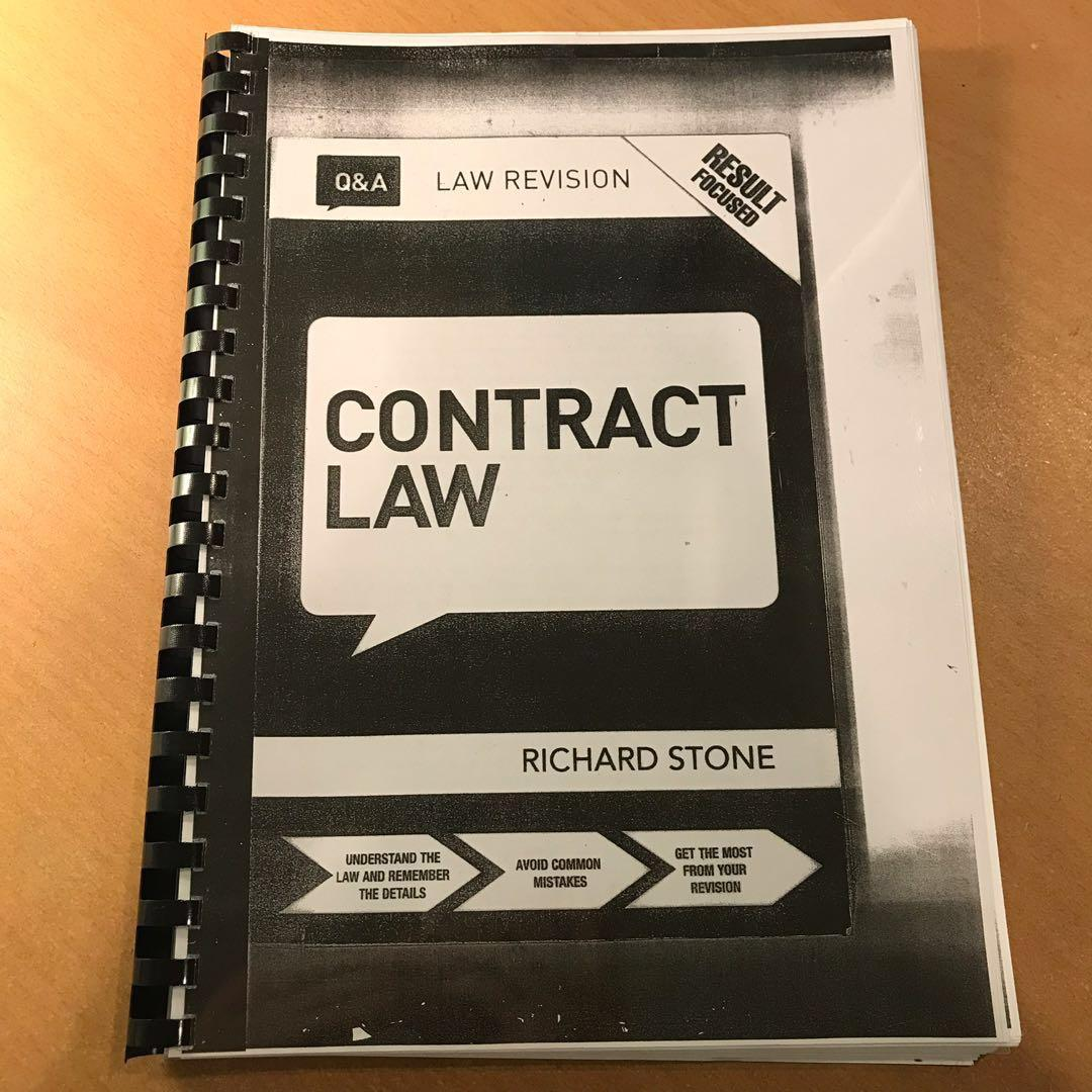 Contract Law Q&A Richard Stone