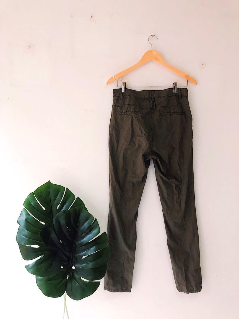 Dark Olive Khaki Pants