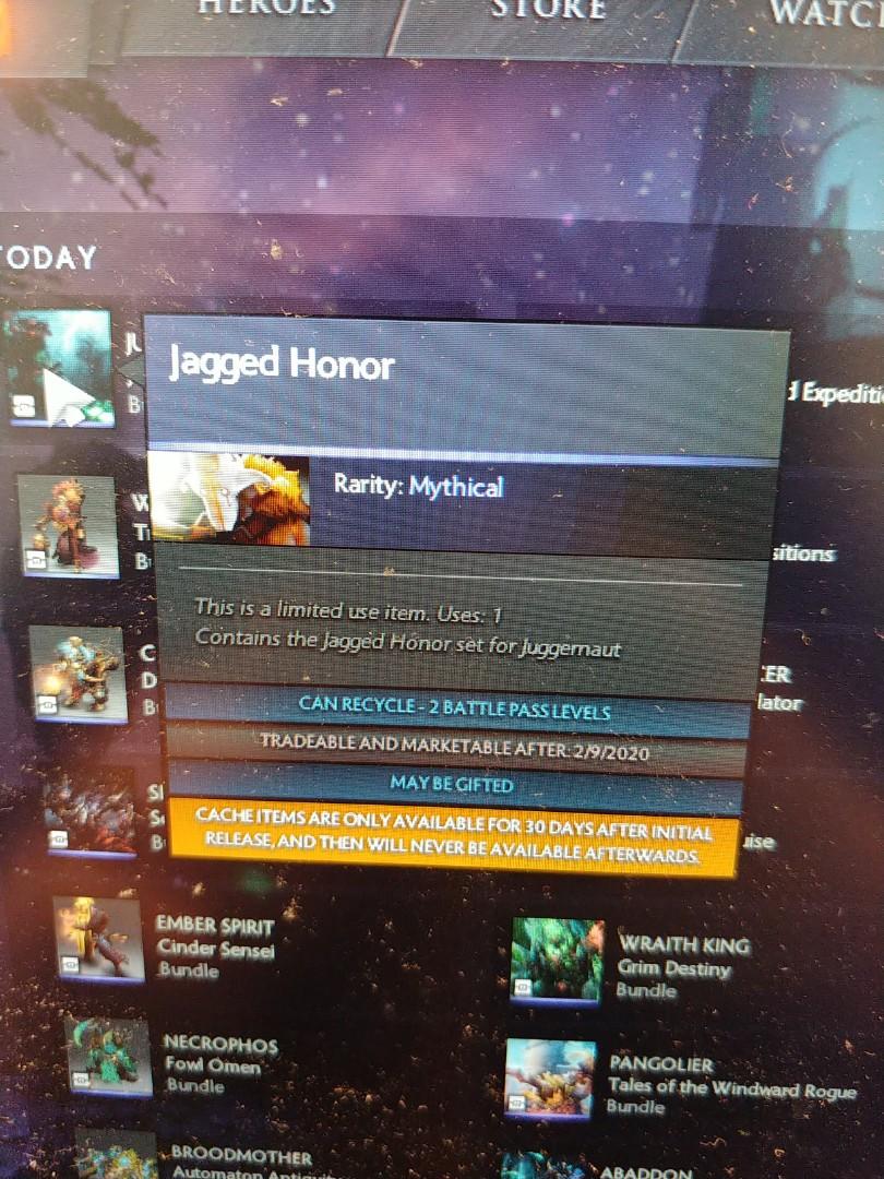 Dota 2 TI9 Cache Jagged Honor Juggernaut Ultra Rare